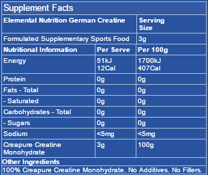 elemental-german-creatine-ingredients