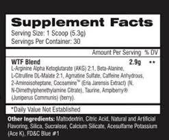 WTF Alpha Breed Ingredients