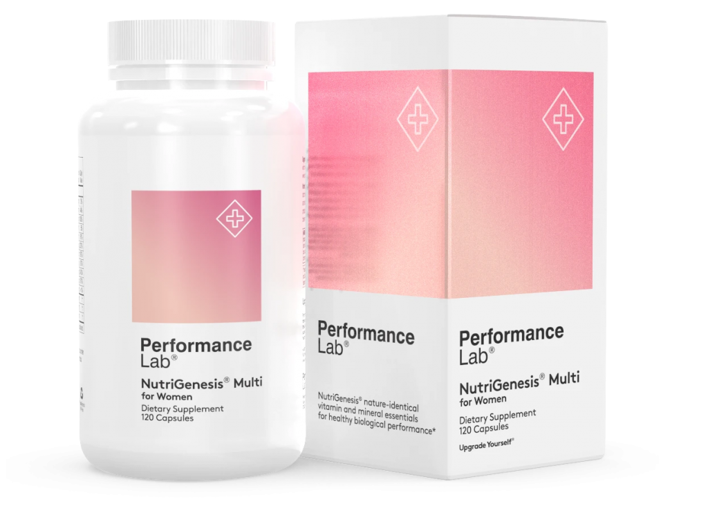 Performance Lab NutriGenesis Multi for Women features all the nutrients young women need
