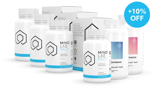 Mind Lab Pro's Black Friday deal includes Buy 3, get 1 Free, PLUS 10% off, PLUS A free bottle of Performance Lab Multi